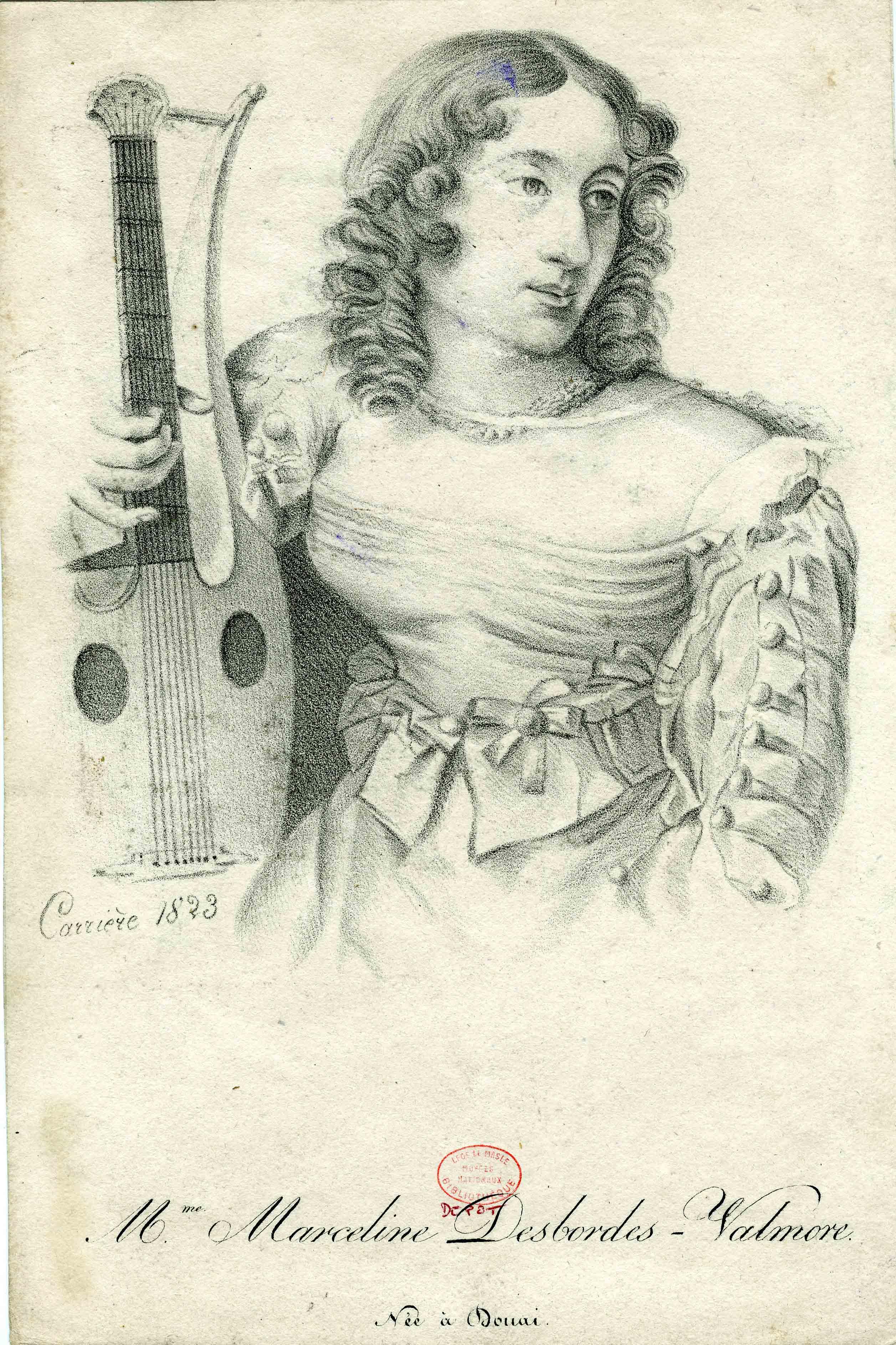 Carrière-Antoine-–-Portrait-de-Marceline-Desbordes-Valmore-n°-inv-D-1975-1-18