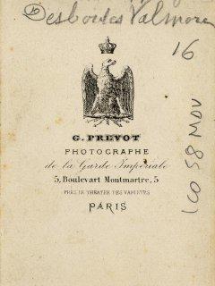 Ms 1848-58 Bis Hippolyte Valmore jeune photo