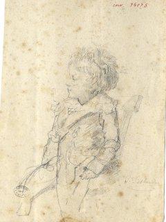 Ms 1848-65-1 Hippolyte enfant par C. Desbordes dessin